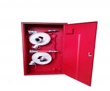 Single-wing hydrant cabinet with equipment