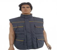 Gray - yellow vest