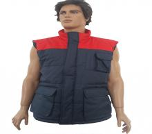 Red-gray vest