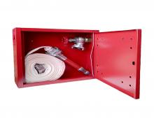 Wall cabinet with equipment