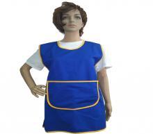 Blue-yellow apron