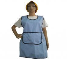 Blue-black apron